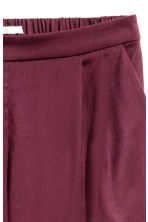 Wide trousers - Plum - Ladies | H&M CN 3
