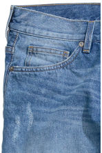 Slim Regular Trashed Jeans  - Denim blue - Men | H&M CN 4