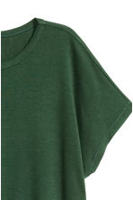 Wide jersey top - Dark green - Ladies | H&M CN 2