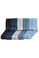 10-pack socks - Black/Blue/Grey - Men | H&M CN 1