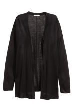Fine-knit cardigan - Black - Ladies | H&M CN 2