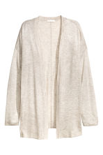 Fine-knit cardigan - Light beige marl - Ladies | H&M CN 2