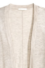 Fine-knit cardigan - Light beige marl - Ladies | H&M CN 3