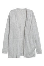 Fine-knit cardigan - Grey marl - Ladies | H&M CN 1