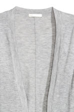 Fine-knit cardigan - Grey marl - Ladies | H&M CN 2