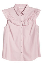Cotton blouse - Light pink - Ladies | H&M CN 2