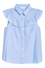 Cotton blouse - Light blue/Striped - Ladies | H&M CN 2