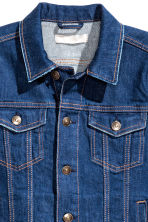 Denim jacket - Dark denim blue - Ladies | H&M GB 3
