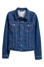 Denim jacket - Dark denim blue - Ladies | H&M GB 2