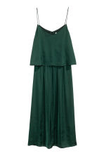 Satin dress - Dark green - Ladies | H&M CN 2