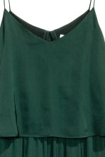 Satin dress - Dark green - Ladies | H&M CN 3