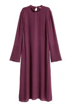 Crêpe dress - Plum - Ladies | H&M CN 2