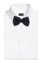 Knitted silk bow tie - Dark blue -  | H&M CN 1