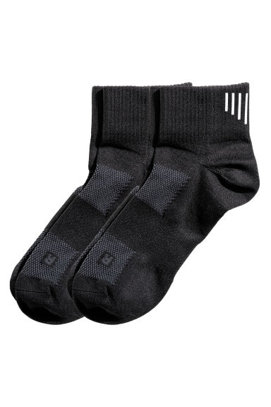 2-pack running socks - Black - Men | H&M CN 1