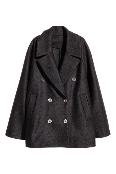 Short wool coat - Black - Ladies | H&M CN 1