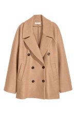 Short wool coat - Beige - Ladies | H&M CN 2