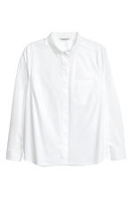 H&M+ Fitted shirt - White - Ladies | H&M CN 2