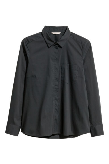 H&M+ Fitted shirt - Black - Ladies | H&M CN 1