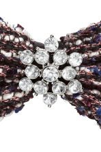 Hair clip with a bow - Dark blue/White - Ladies | H&M CN 3