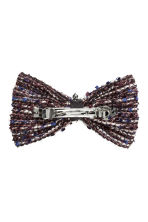 Hair clip with a bow - Dark blue/White - Ladies | H&M CN 2