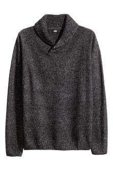 Jumper with a shawl collar