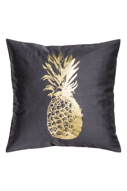 Metallic-print cushion cover