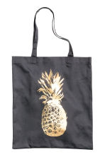Tote bag with a motif - Black/Pineapple - Home All | H&M CN 1