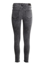 Skinny Regular Twisted Jeans - Black washed out - Ladies | H&M CN 3