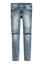 Super Skinny Zip Jeans - Denim blue - Men | H&M CN 2