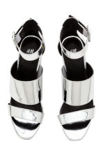 Patent sandals - Silver - Ladies | H&M CN 2
