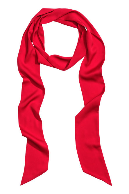 Narrow satin scarf