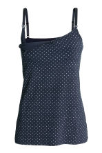 MAMA 2-pack nursing tops - Dark blue/Spotted - Ladies | H&M CN 3