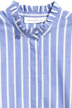 Cotton blouse with frills - Blue/Striped - Ladies | H&M GB 3