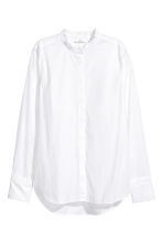 Cotton blouse with frills - White - Ladies | H&M CN 2