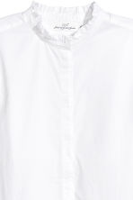 Cotton blouse with frills - White - Ladies | H&M GB 3