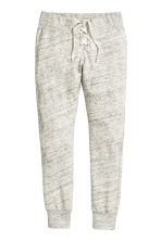 Joggers with lacing - Light grey marl - Ladies | H&M CN 2
