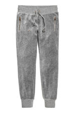 Joggers in velour - Grigio mélange - DONNA | H&M IT 2