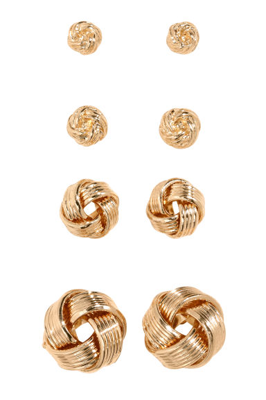 4 pairs studs - Gold - Ladies | H&M CN