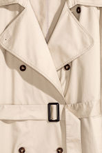 Cotton trenchcoat - Light beige - Ladies | H&M CN 3