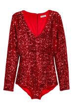 Sequined body - Red - Ladies | H&M CN 2