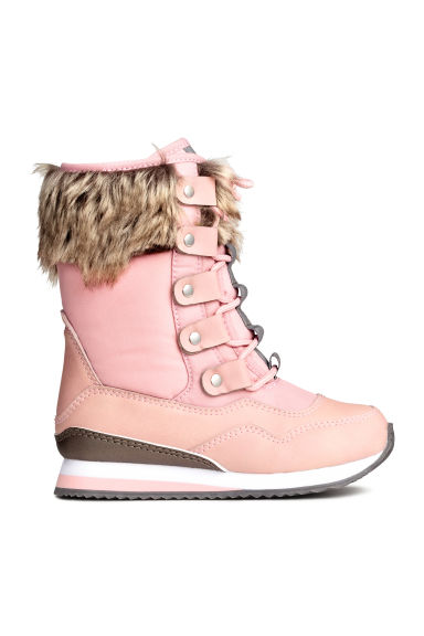 Lined boots - Light pink - Kids | H&M CN 1