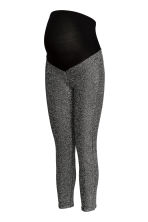 MAMA Leggings glitter - Nero/argentato - DONNA | H&M IT 2