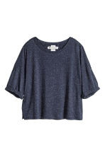 Top with a nepped texture - Dark denim blue - Ladies | H&M CN 2