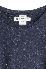 Top with a nepped texture - Dark denim blue - Ladies | H&M CN 3