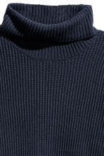 Pullover a coste a collo alto - Blu scuro - DONNA | H&M IT 3