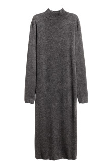 Fine-knit turtleneck dress