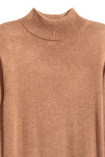 Fine-knit turtleneck dress - Dark beige marl - Ladies | H&M GB 3