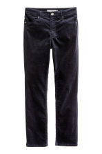 Velvet trousers - Dark blue - Ladies | H&M CN 2