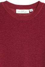 Ribbed top in a lyocell blend - Dark red - Ladies | H&M CN 3
