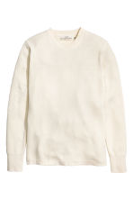 Jumper in a textured knit - Natural white - Men | H&M CN 2